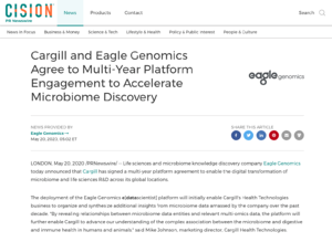 Cargill Eagle Genomics press release
